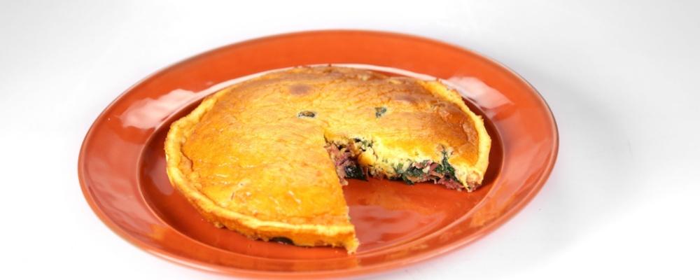 Prosciutto and Spinach Clafoutis