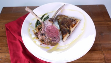 Rack of Lamb with Mint Pesto and Potato Galette