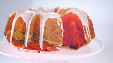 Red Velvet Swirl Cake