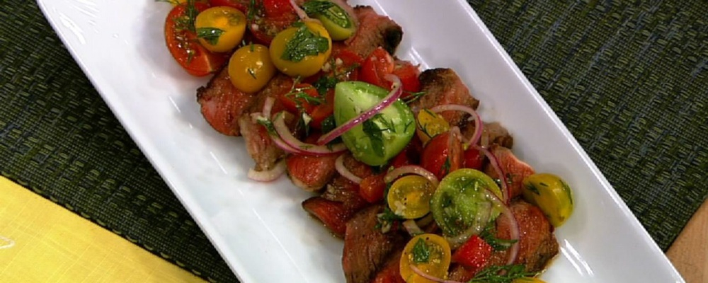 Rib-Eye with Tomato Salad