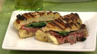 Roast Beef Florentine Panini