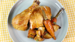 Roast Chicken with Tarragon Vegetables