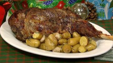 Roasted Leg of Lamb Provencal Style
