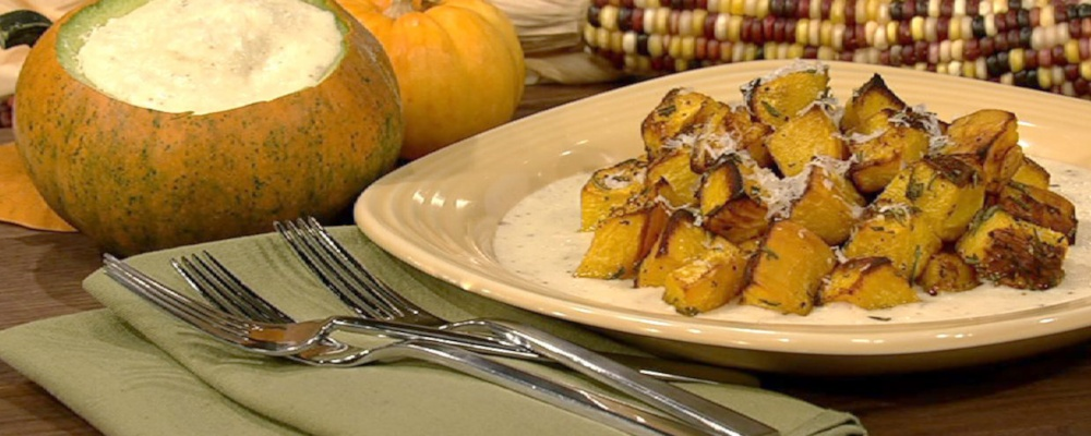 Roasted Pumpkin with Fontina Fonduta