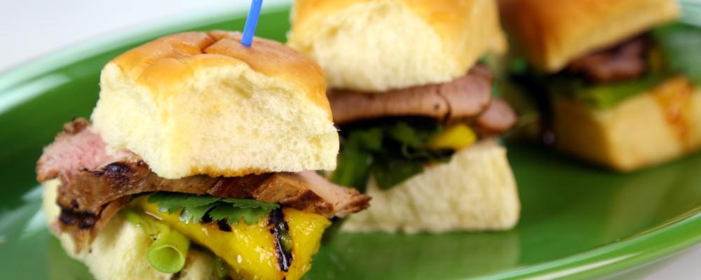 Roble Ali's Hawaiian Pork Tenderloin Sliders Recipe by Roble Ali - The ...