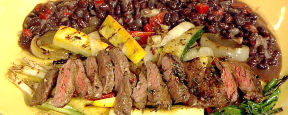 Sal's Skirt Steak with Chimichurri Sauce and Black Beans Recipe by Sal ...