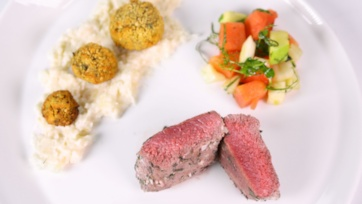 Salt Crusted Lamb Tenderloin