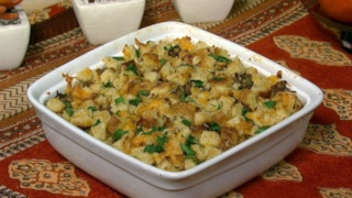 Sausage and Cheddar Bread Pudding
