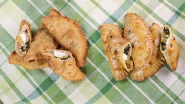 Sausage, Kale, and Squash Hand Pies
