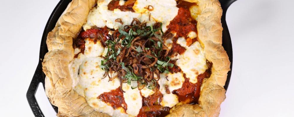 Sausage & Pepper Skillet Pizza
