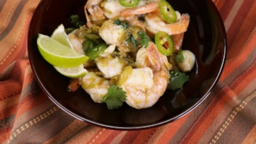 Sizzling Tequila Lime Shrimp