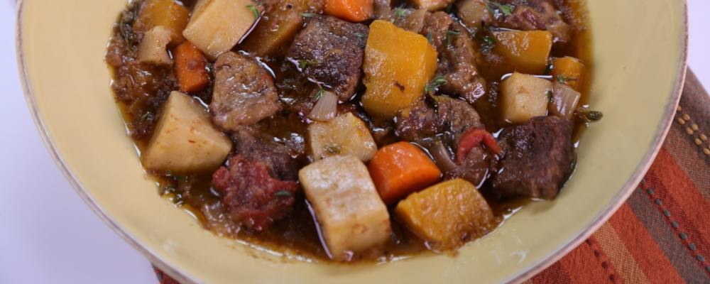 Slow Cooked Beef & Vegetable Stew Recipe by Michael Symon - The Chew