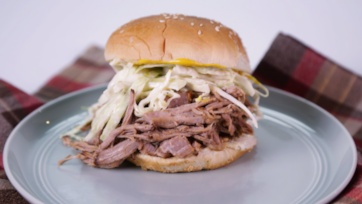 Slow Cooker Georgia Pulled-Pork Barbecue