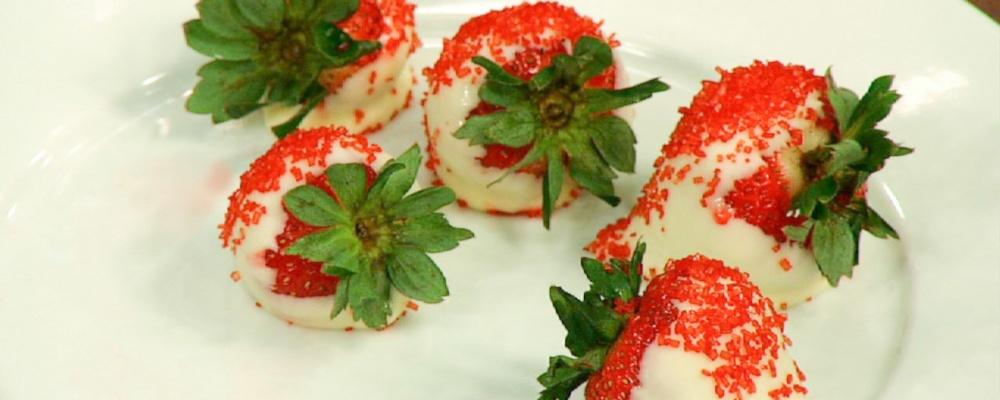 Soleil Moon Frye\'s White Chocolate Strawberries