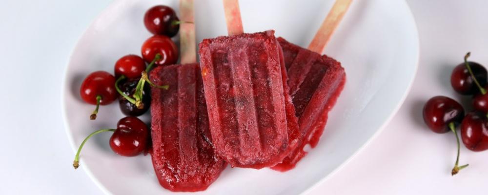 Sour Cherry Ginger Ice Pops