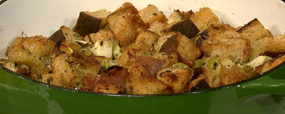 Sourdough Stuffing with Apples Recipe by Clinton Kelly - The Chew