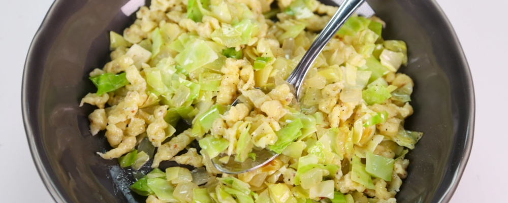 Spaetzle with Cabbage & Mustard