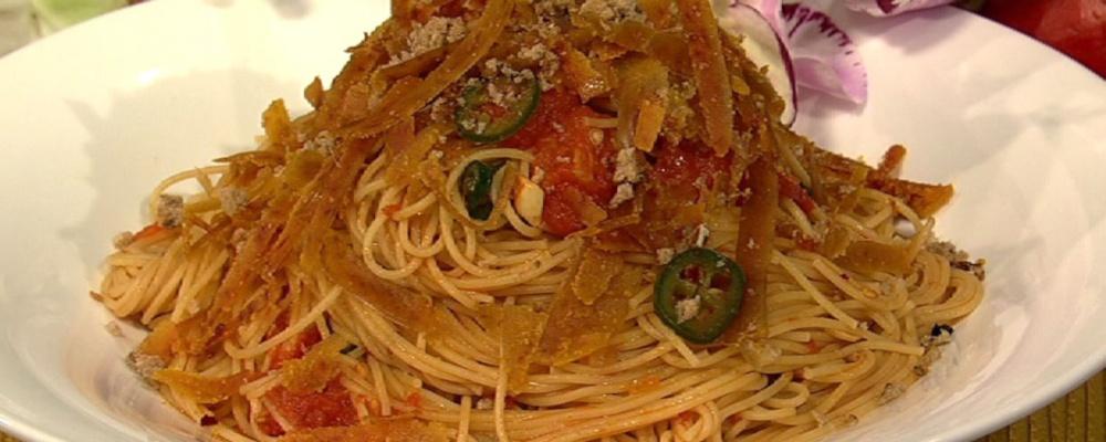 Spaghettini with Bottarga and Chiles