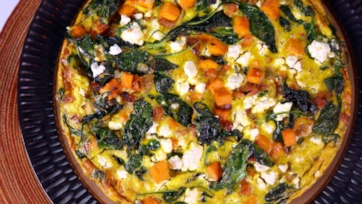 Spinach & Sweet Potato Frittata
