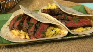 Steak and Scrambled Egg Tacos