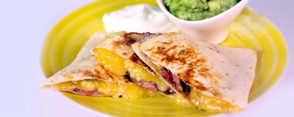 Steak Quesadilla with Salsa Verde