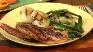 Steakhouse Bacon with Grilled Spring Onions