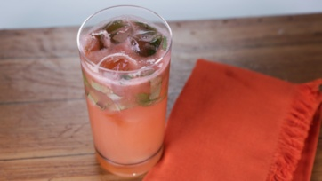 Strawberry Rhubarb and Basil Muddler
