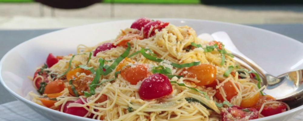 Summer Garden Pasta Recipe By Ina Garten The Chew