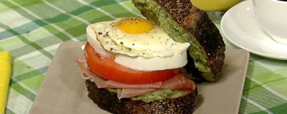Sunday Eggs Caprese Breakfast Sandwich Recipe by Deedra Iandoli - The ...