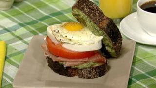 Sunday Eggs Caprese Breakfast Sandwich