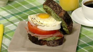 Sunday Eggs Caprese Breakfast Sandwich