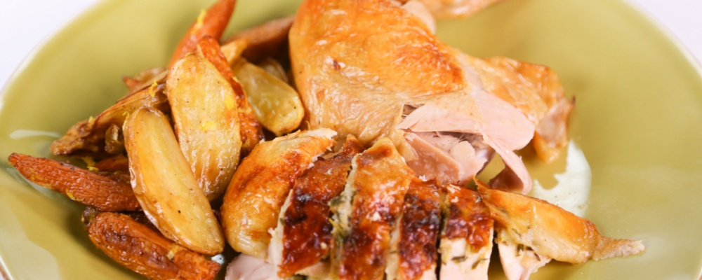 Sunday Roast Chicken Recipe by Adapted from Cooking with Love by Carla ...