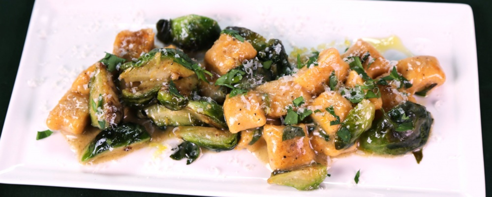 Sweet Potato Gnocchi with Brussels Sprouts and Brown Butter Recipe by Michael Symon - The Chew
