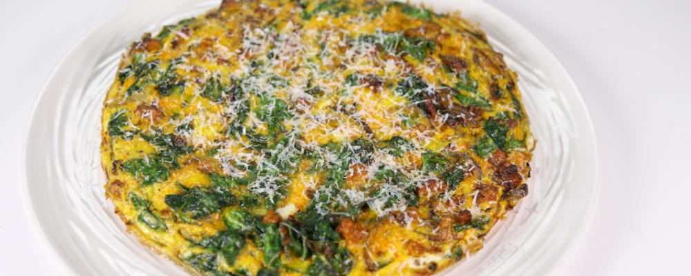 Swiss Chard and Sausage Frittata Recipe by Mario Batali - The Chew