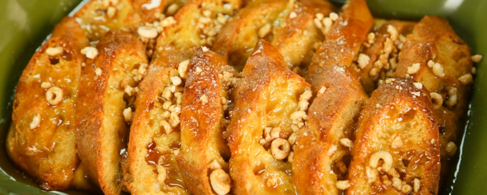 The Chew's Honey Nut Cheerios® French Toast Recipe by The Chew - The ...