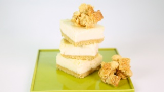 The Chew\'s Vanilla Chex® Cheesecake Bars