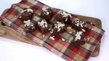 Toasted Coconut Almond Brownies