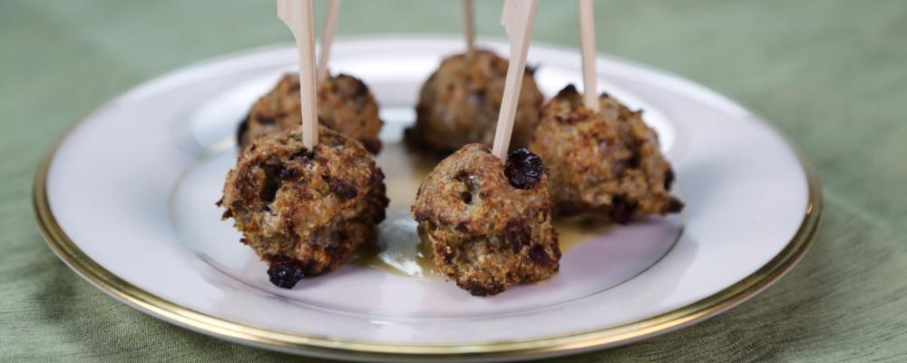 Turkey Cranberry Meatballs Recipe by Clinton Kelly - The Chew