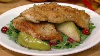 Turkey Cutlets with Apples and Cranberries