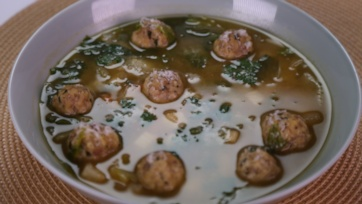 Turkey Meatball Wedding Soup