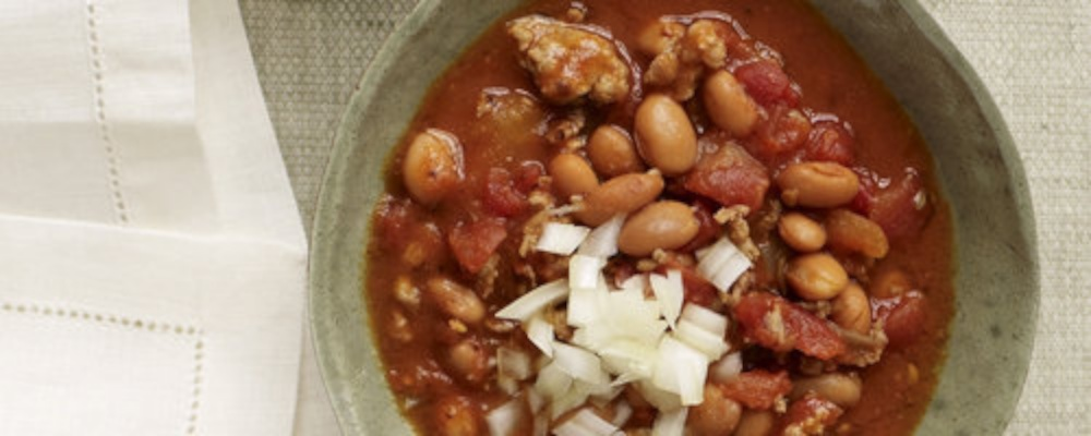 Weight Watchers Slow-Cooker Turkey Chili