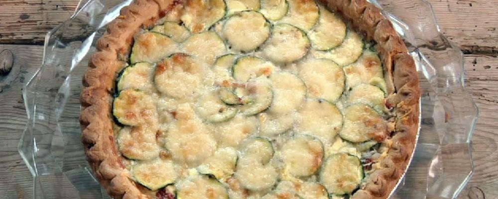 Zucchini and Mozzarella Tart