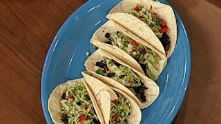 Black Bean Tacos with Tangy Cabbage