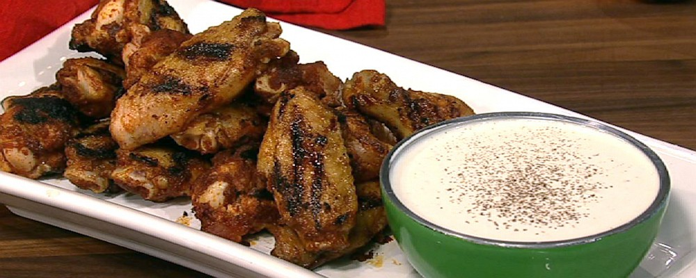 Mario Batali\'s Spicy Chicken Wings with Alabama White Barbeque Sauce