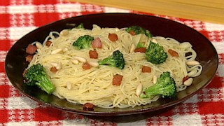Angel Hair Pasta with Pancetta and Broccoli