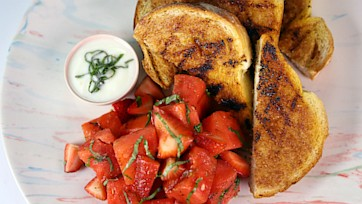 Grilled Watermelon Salad & Cinnamon Toast