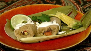 Beef and Corn Tamales with Tequila Crema