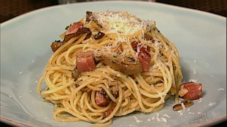 Angel Hair with Pancetta and Mushrooms