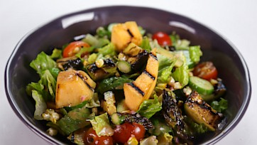 Daphne Oz\'s Grilled Cantaloupe and Vegetable Salad