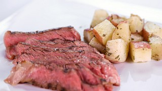 Brian\'s Spicy Grilled Rib Eye with Rosemary Potatoes